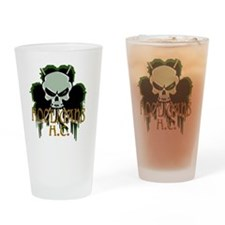 Skull Hockey Sticks Drinking Glass