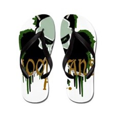 Skull Hockey Sticks Flip Flops