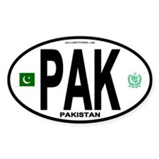 Pakistan Intl Oval Oval Decal