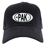 Pakistan Intl Oval Black Cap