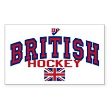 GB Great Britain Ice Hockey Rectangle Decal