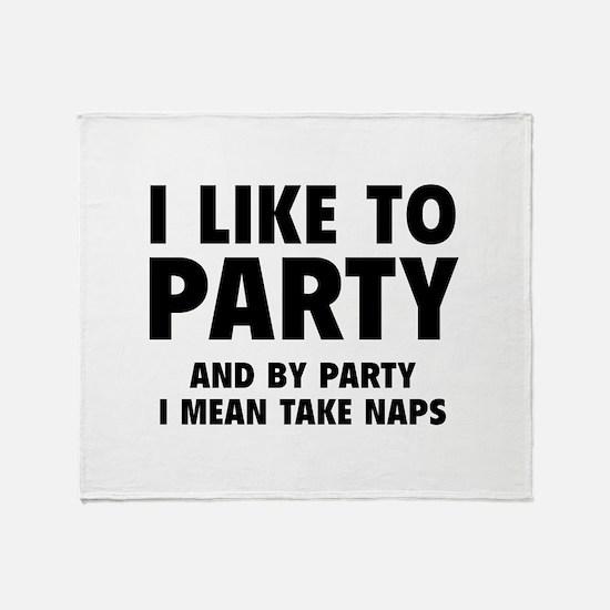 I Like To Party Stadium Blanket