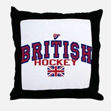 GB Great Britain Ice Hockey Throw Pillow