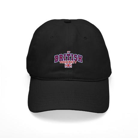GB Great Britain Ice Hockey Black Cap