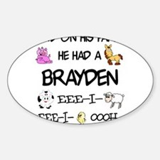 Brayden had a Farm Oval Decal