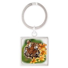 TigerLily Square Keychain
