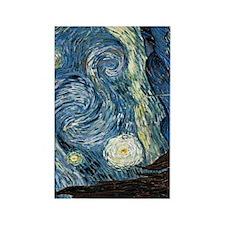 Starry Night Van Gogh Rectangle Magnet
