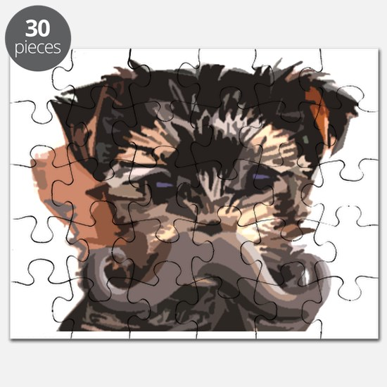 York Pup Mustache Puzzle