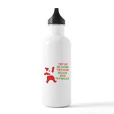 Dashing through the snow Water Bottle