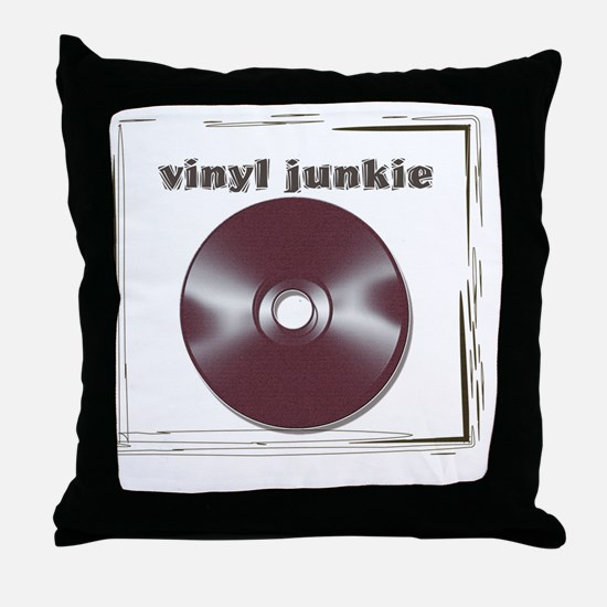 VINYL JUNKIE Throw Pillow