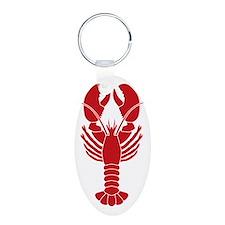 Lobster Aluminum Oval Keychain