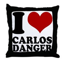 I heart Carlos Danger Throw Pillow