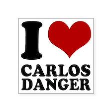 """I heart Carlos Danger Square Sticker 3"""" x 3"""""""