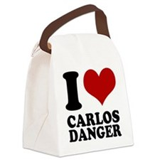 I heart Carlos Danger Canvas Lunch Bag