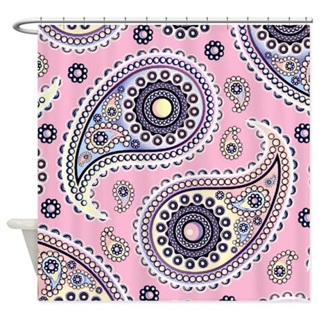 Pink And Blue Paisley Shower Curtain By Ibeleiveimages