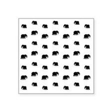 "elephants Square Sticker 3"" x 3"""