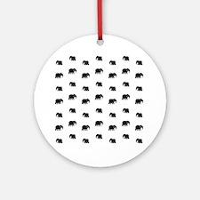 elephants Round Ornament
