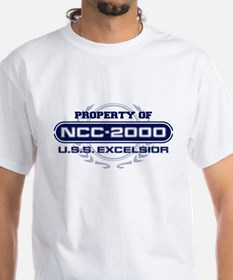 Property of USS Excelsior (Blue) T-Shirt