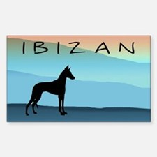 Ibizan Blue Mountains Rectangle Decal