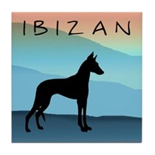 Ibizan Blue Mountains Tile Coaster