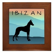 Ibizan Blue Mountains Framed Tile