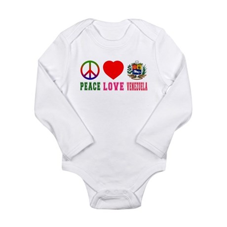 Peace Love Venezuela Long Sleeve Infant Bodysuit