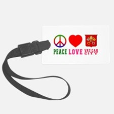 Peace Love Vatican City Luggage Tag