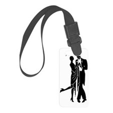 Elegant 1920s Couple Dancing Luggage Tag