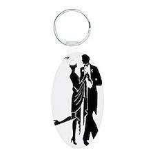 Elegant 1920s Couple Dancin Keychains
