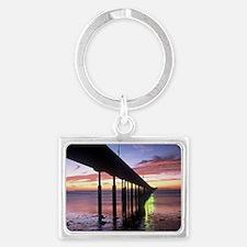 Ocean Beach Pier Sunsent Landscape Keychain
