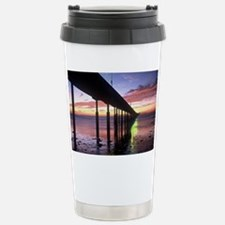 Ocean Beach Pier Sunsen Stainless Steel Travel Mug