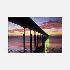 Ocean Beach Pier Sunsent Rectangle Magnet