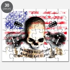 skull and flag UNITED STATES OF AMERICA roc Puzzle
