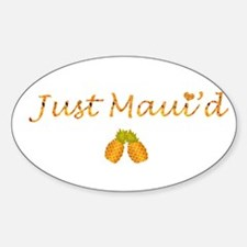 Just Maui'd Pineapple Logo Oval Decal