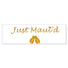 Just Maui'd Pineapple Logo Bumper Bumper Sticker