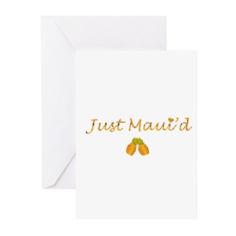 Just Maui'd Pineapple Logo Greeting Cards (Package