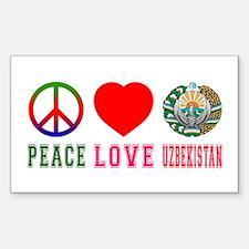Peace Love Uzbekistan Decal