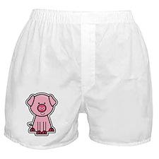 Shiny Pig Sticker Boxer Shorts