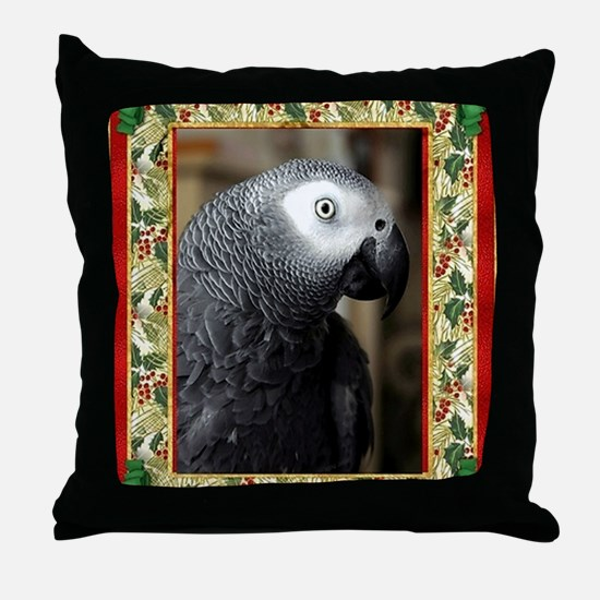 African Grey Parrot Throw Pillow