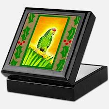 Amazon Red Lored Parrot Keepsake Box