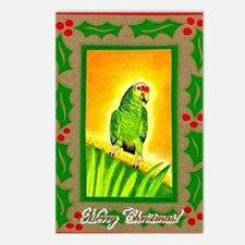 Amazon Red Lored Parrot Postcards (Package of 8)