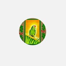 Amazon Red Lored Parrot Mini Button