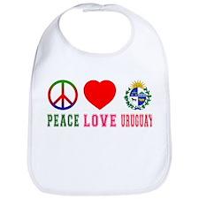 Peace Love Uruguay Bib