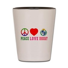 Peace Love Uruguay Shot Glass