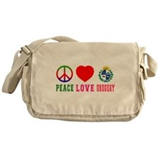 Peace Love Uruguay Messenger Bag