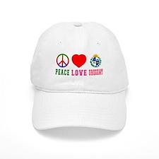 Peace Love Uruguay Baseball Cap