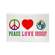 Peace Love Uruguay Rectangle Magnet
