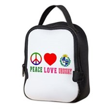 Peace Love Uruguay Neoprene Lunch Bag