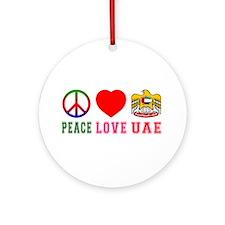 Peace Love United Arab Emirates Ornament (Round)