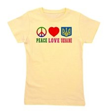 Peace Love Ukraine Girl's Tee